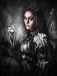 Northern Wolf by JustinGedak