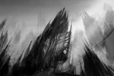 Mountains of Graj by Robotpencil
