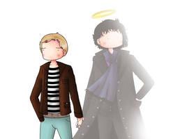 Sherlock and John holding hands by ice-cream-skies