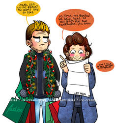 Christmas shopping with Mark by ice-cream-skies