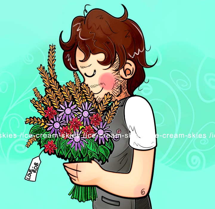 Mark with flowers by ice-cream-skies