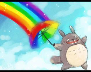 Tonari no Totoro : Rainbow by Eternal-S