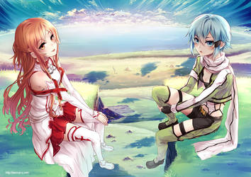 Sword Art Online: Asuna n Sinon by Eternal-S