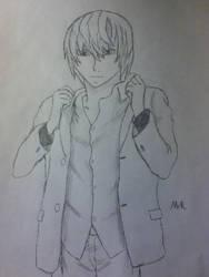 Light Yagami drawing by mrrightlyrics