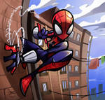 Spider-girl on the wall by zgul-osr1113