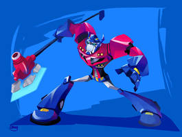 Optimus Prime Animated by zgul-osr1113