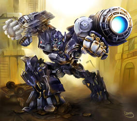 Ironhide counterattack by zgul-osr1113