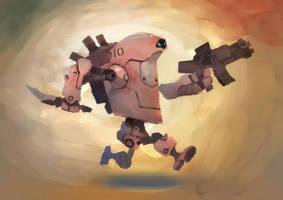 Running Battlebot by zgul-osr1113