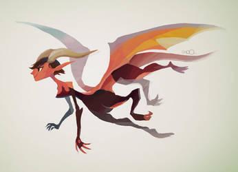 Dragon girl by zgul-osr1113