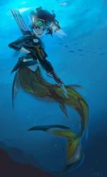 Armed mermaid by zgul-osr1113