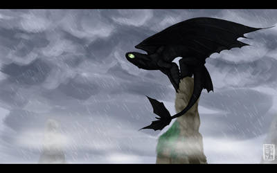 Night Fury - Light Rain by Stalcry