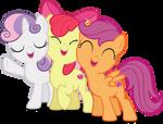 Vector #503 - Cutie Mark Crusader Group Hug! by DashieSparkle