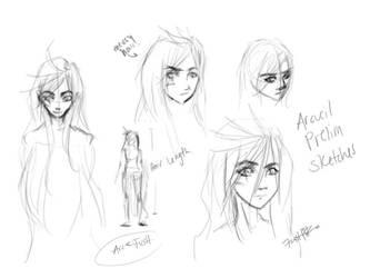OC Sketches: Arcueil by Fushiro