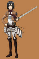 Mikasa Ackerman by AaronML