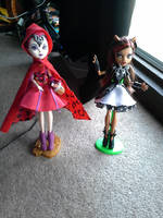 Red Mira Hood and Clawdeen Shards by PrincessGemSquirrel