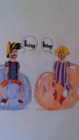 Clown Rick and Melissa's balloon ride by MrDeviantarter