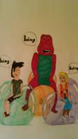 Rick, Melissa and Barney's balloon rides by MrDeviantarter