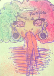 Zombie water paint. by Origami-Mind