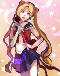 Sailor Moon : shiny rabbits by Leaf-oneesan
