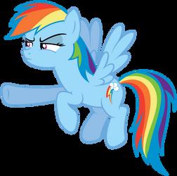 Suspicious Rainbow Dash by MasterRottweiler