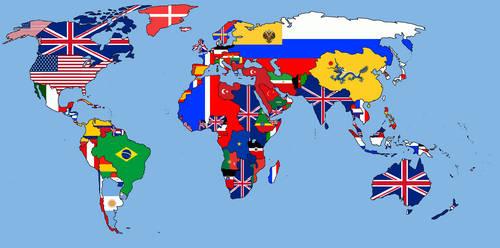 Political Map Of The World In 1900 By Iskanderkey On Deviantart