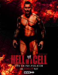 Randy Orton WWE Hell in a Cell 2013 poster by presidentdevon