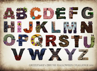 Halloween Monster Alphabet by GrizzlyJake