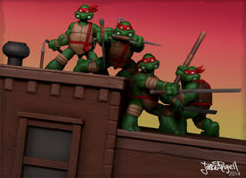 TMNT issue 1 tribute! by GrizzlyJake