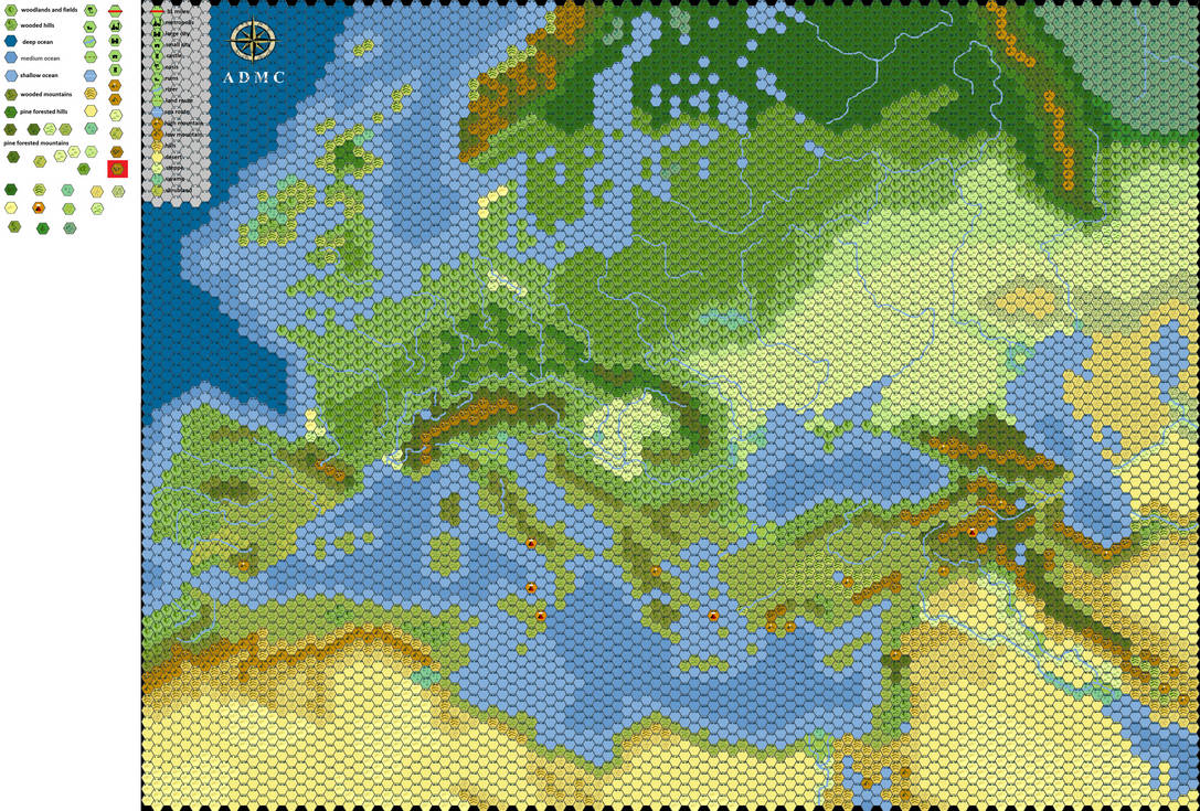 Map Of Europe 1100 Ad.Europe 1100 Ad Numbered Hex Map By Thomasbowman255 On Deviantart