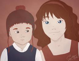Hugo and Rose by delineo-ergo-sum