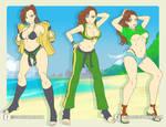 Chun-Li cosplays Laura by omegalife