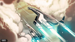 Tempest and Normandy SR2 - Mass Effect by LoginovLS