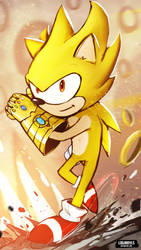 Super Sonic and Gauntlet Of Infinity by LoginovLS