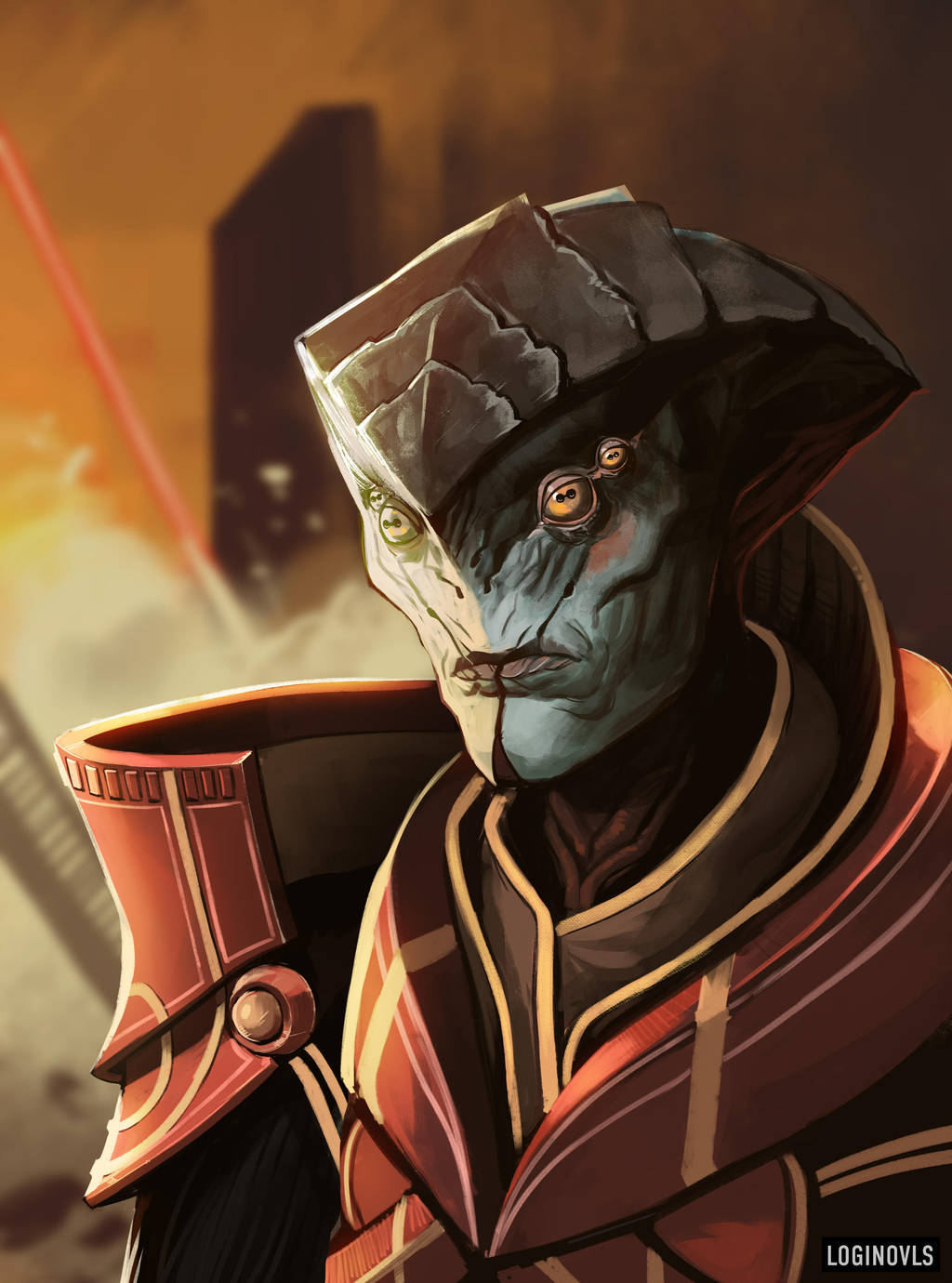 Javik - Mass Effect by LoginovLS