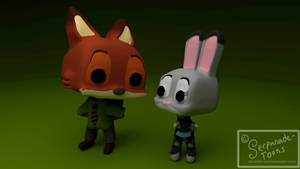 Fox and Bun Pops by Serpanade-Toons