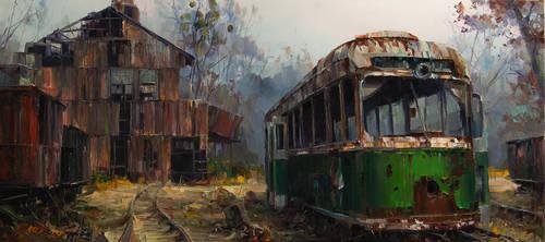 Trolley station by VityaR83