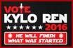 Vote Kylo Ren 2016 Stamp by CassieCros13