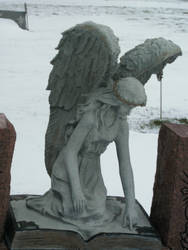 Angel Book Statue-1 by Rubyfire14-Stock