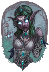 Tyrande Whisperwind by Blushy-Pixy