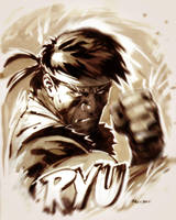 Ryu Sketch by ryanbnjmn