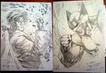 Quick Wolverine and Gambit by ryanbnjmn