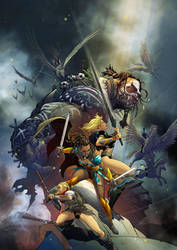 Odyssey of the Amazons cover#1 by ryanbnjmn