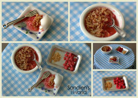 Rhubarb and Strawberry Crumble by Sandien
