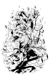 Hellboy-AbeSapien Commission by SergioSandoval