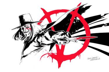 V for Vendetta Commission by SergioSandoval