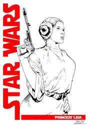 Princess Leia Commission by SergioSandoval