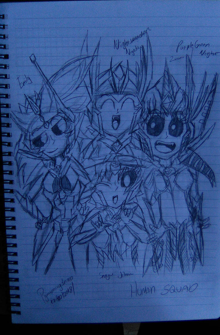 Human squad by pyrusdragolnoid