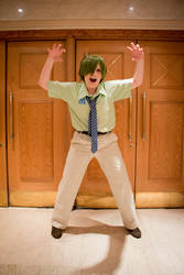 Monsters Inc. Mike Cosplay - You're not Scary by GoldenMochi