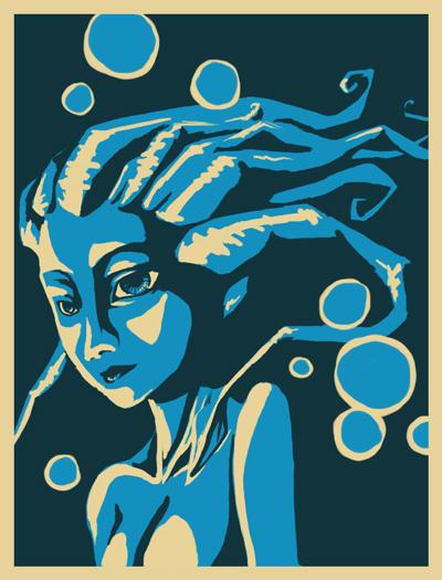 Squidgirl by digital-marginalia