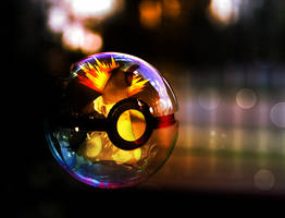 Typhlosion pokeball by sashabunnybutt